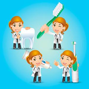 Asistencia odontológica, limpieza de boca