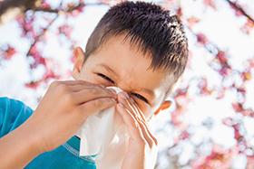 niño alérgico