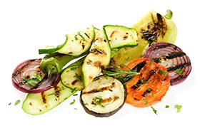 Berenjena con verduras