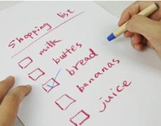 lista de la compra - claves para una rentreé saludable
