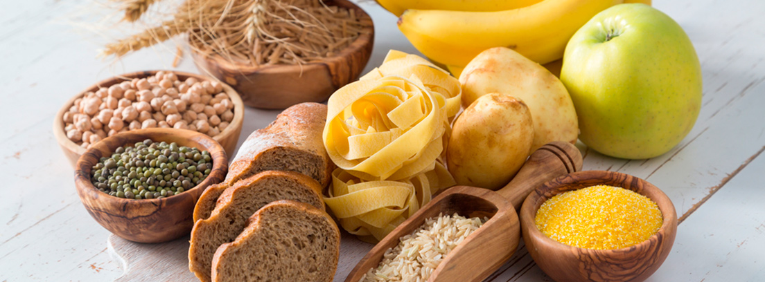 comida que contiene hidratos de carbono