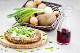 Tortilla de espinacas y judías blancas