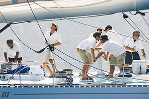 navegación de crucero-preparando el barco