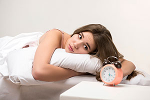 mujer despierta,insomnio