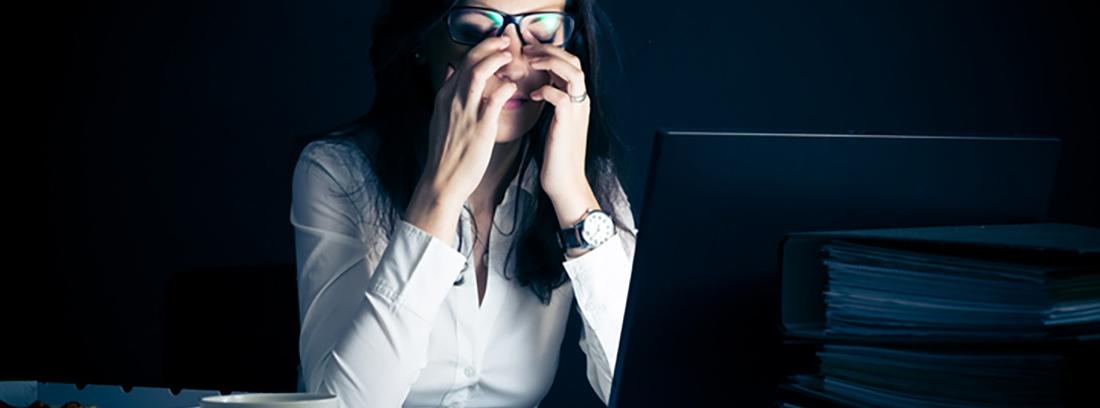 Prevenir la fatiga ocular en el trabajo