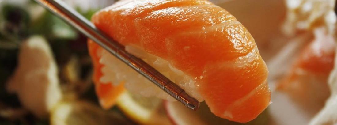 sushi para comer pescado