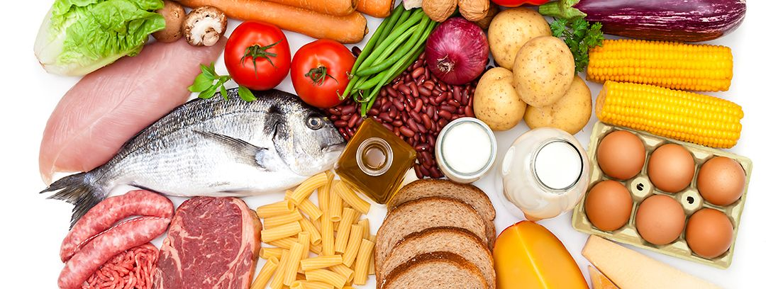 variedad de alimentos para llevar una dieta equilibrada