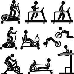 ejercicios en gimnasios