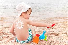 Niños en verano. Controlados