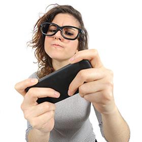 adicta al móvil
