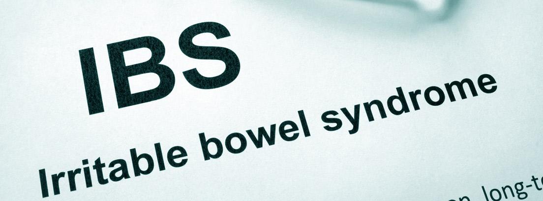 Papel con síndrome de intestino Irritable de palabras (IBS)