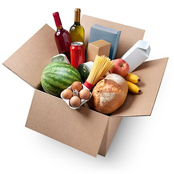 alimentos en diferentes envases