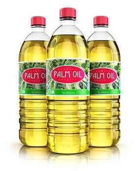 botellas de aceite de palma