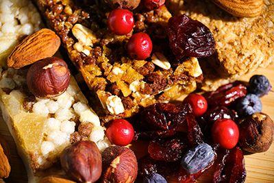 barritas energéticas con frutos secos e higos