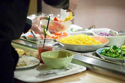 comida rápida saludable oriental buffet