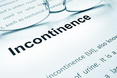 un papel con la palabra incontinencia escrita