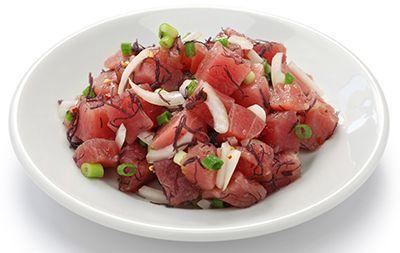 plato con atún y cebolleta