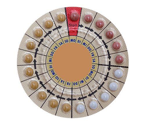 pastillas anticonceptivas en formato circular