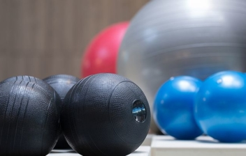 diferentes pelotas para rehabilitación