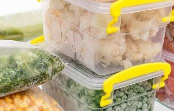 verdura congelada en bolsas y tuppers