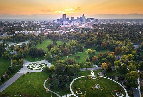 zonas verdes en una gran ciudad