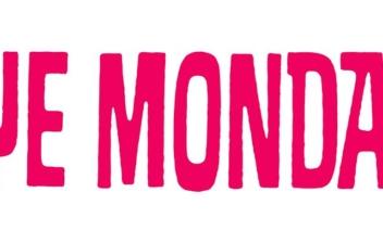 letrero con las palabras blue monday en rosa