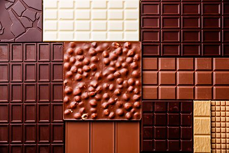 diferentes tabletas de chocolate