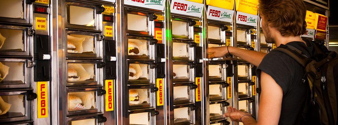 máquina expendedora de hamburguesas
