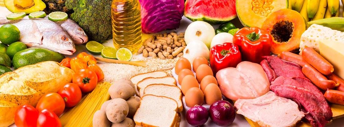 diferentes alimentos crudos