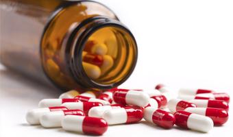 Bote de pastillas de Omeprazol