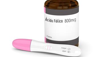 frasco acido folico y test de embarazo