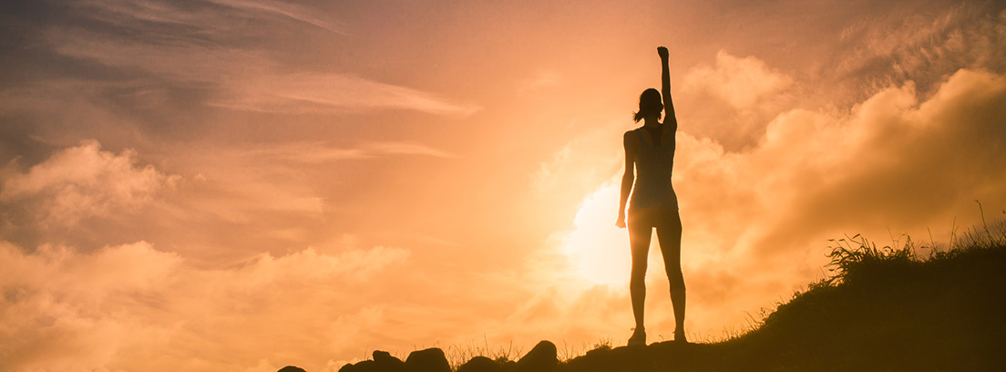 concepto de éxito cumplimiento de objetivos