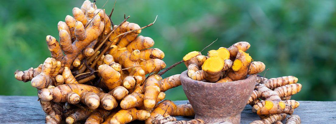 raíces de cúrcuma