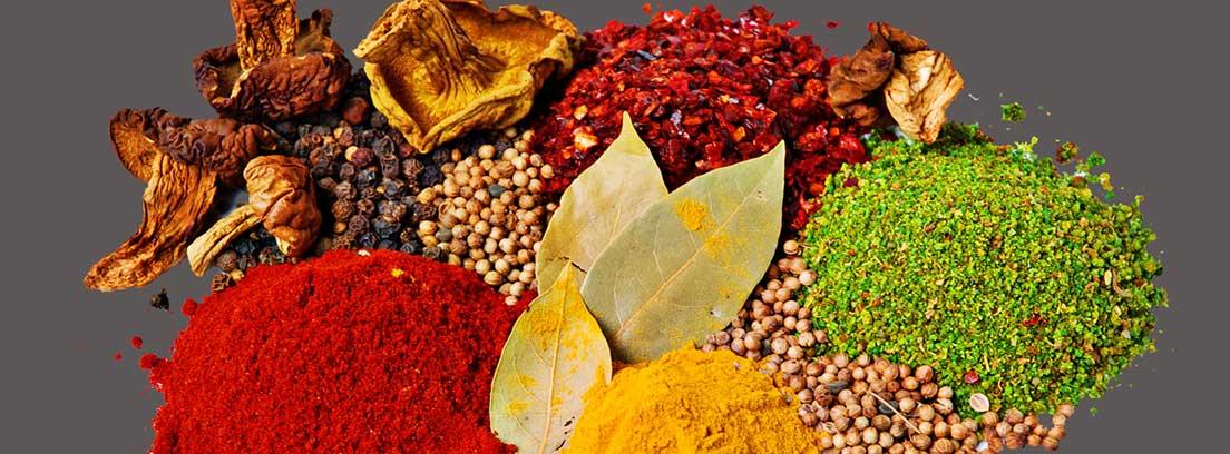 Productos para sustituir a la sal: diferentes especias