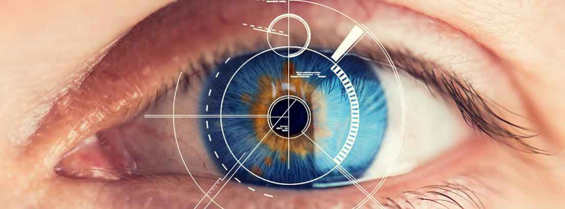 scanner de retina realizado en ojo azul