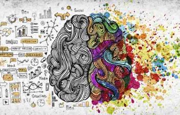 ¿Qué es la psicología del color o psicología cromática? Cebrero mitad gris y mitad de colores