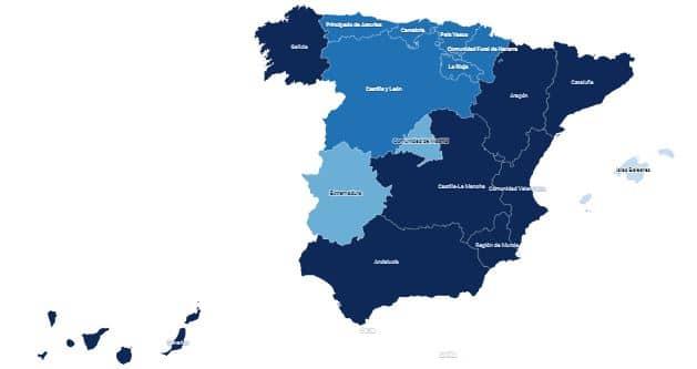 mapa estado de alarma covid españa