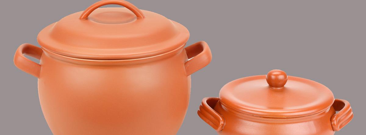 Materiales seguros para cocinar: dos tipos de cacerolas de barro