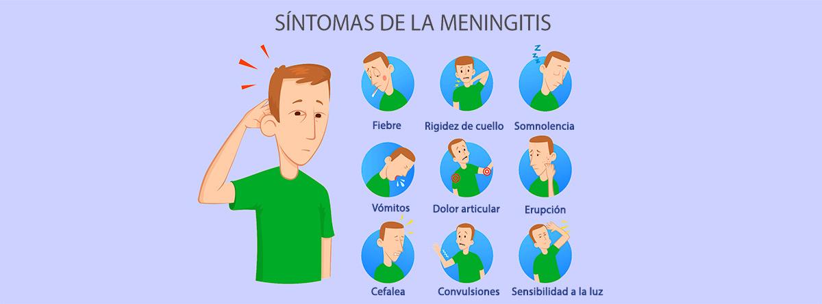 Síntomas frecuentes de meningitis