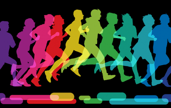 6 Consejos para correr bien: siluetas de corredores