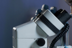 Síntomas B asociados a linfomas: investigador observando al microscopio muestras de enfermedades hematológicas
