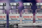 Vacunas frente el COVID-19: varios frasos de vacunas y una jeringuilla