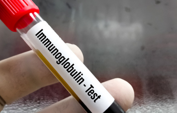 Test IgA ¿qué mide?: tubo de sangre de test de inmunoglobulina